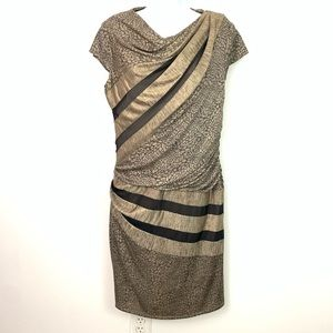 Betsey Johnson Polyester Metallic Mesh Dress